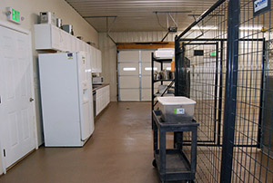Entrance to food prep area - Rocky Mountain Kennels in Longmont, Colorado